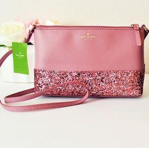 Kate Spade Ramey Crossbody Pink Glitter Sparkle